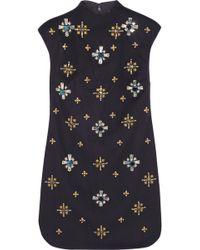 Tory Burch Carlan Embellished Woolblend Felt Mini Dress - Lyst
