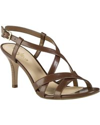 Cole Haan Bartlett Leather Heeled Sandals - Lyst