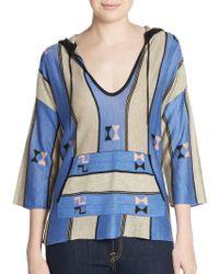 Twelfth Street Cynthia Vincent | Baja Striped Hoodie Sweater | Lyst
