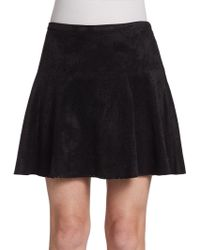BCBGMAXAZRIA Lucy Perforated Skirt - Lyst