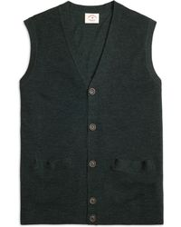 Brooks Brothers Merino Wool Button-Down Vest - Lyst