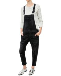 Citizens of Humanity Audrey Slouchy Slim Cropped Overall black - Lyst