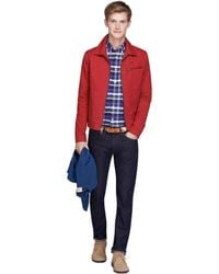 Brooks Brothers Waxed-Cotton Blend Short Jacket - Lyst