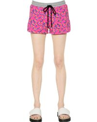 Markus Lupfer Printed Heavy Cotton Jersey Shorts - Lyst