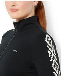 Lauren by Ralph Lauren - Plus Size Embroidered Active Jacket - Lyst