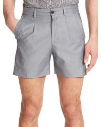 Versace Heathered Shorts black - Lyst