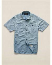 RRL Glasser Cotton-Linen Shirt - Lyst