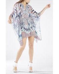 BCBGMAXAZRIA Inesa Draped Scarf Print Dress - Lyst