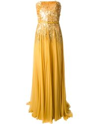 Elie Saab Sequined Evening Gown - Lyst