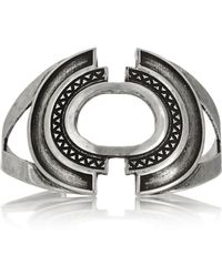 Pamela Love Cut Out Burnished Silver Plated Brass Cuff - Lyst