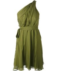 MSGM Draped One Shoulder Dress - Lyst