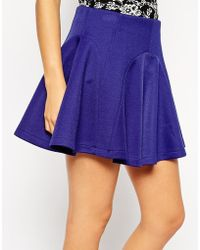 Asos Skater Skirt With Panelled Seams - Lyst
