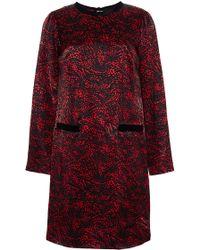 Marc Jacobs Printed Satin Dress - Lyst
