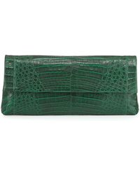 Nancy Gonzalez Gotham Crocodile Clutch Bag - Lyst