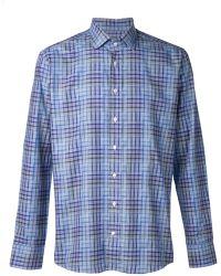 Etro Mixed Plaid Print Shirt - Lyst