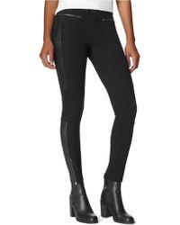 Calvin Klein Jeans Foiled Suede Ponte Pants - Lyst
