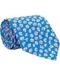 Liberty Print Blue Bellis Cotton Tie blue - Lyst
