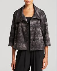 Eileen Fisher Abstract Print Jacquard Jacket - Lyst