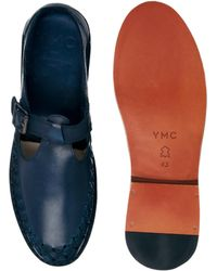 YMC - Leather Monk Shoes - Lyst