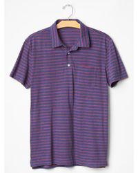 Gap Tri-Blend Stripe Polo - Lyst