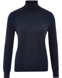 Cc Rib Detail Roll Neck Jumper - Lyst