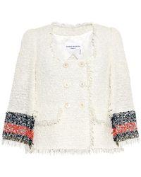 Sonia Rykiel Double-Breasted Tweed-Bouclé Jacket - Lyst