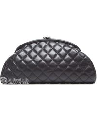 Chanel Pre-owned Black Lambskin Timeless Clutch - Lyst