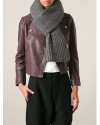 Zadig & Voltaire Ribbed Knitted Scarf - Lyst