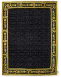 Versace | Black & Gold Beach Towel | Lyst
