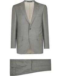 Corneliani Gray Sharkskin Suit - Lyst
