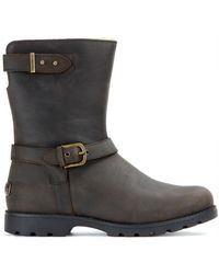 Ugg Grandle Brushed Leather Boots - Lyst