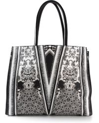 Roberto Cavalli Patterned Tote Bag - Lyst