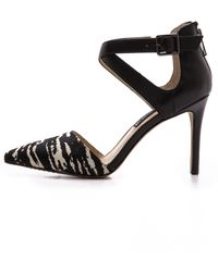 Steven By Steve Madden Alicia Haircalf Pumps Blackwhite - Lyst