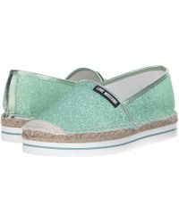 LOVE Moschino Sparkle Slip-On Mint Women