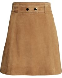 H&M Suede Skirt - Lyst