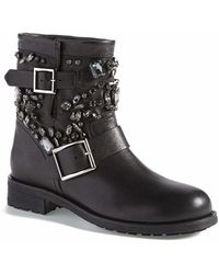 Jimmy Choo 'Youth' Short Moto Boot - Lyst