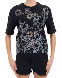Carven Short-Sleeve-Sweatshirt - Lyst