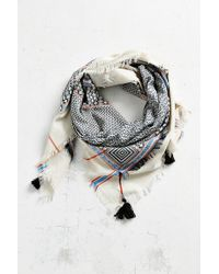 Ecote - Double Layer Tassel Scarf - Lyst