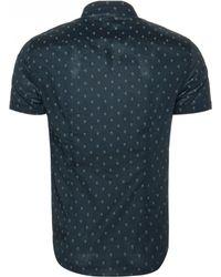 John Varvatos | gray Skull Slim Fit Sport Shirt | Lyst