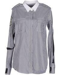 Balmain Shirt gray - Lyst