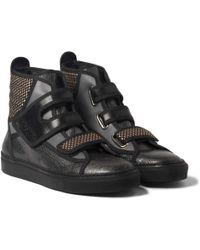 Raf Simons Panelled Hightop Sneakers - Lyst