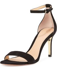 Tory Burch Marena Suede Anklestrap Sandal - Lyst