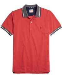 Brooks Brothers Tipped Collar Polo Shirt - Lyst
