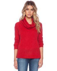 White + Warren Luxe Funnel Neck Sweater - Lyst