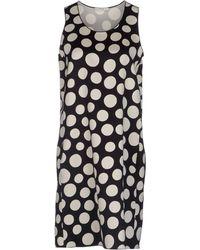 Celine White Short Dress - Lyst