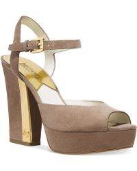 Michael Kors Michael London Platform Sandals - Lyst