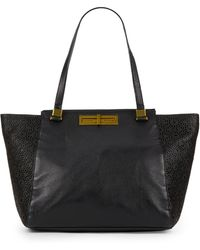Elliott Lucca - Laser Cut Leather Tote - Lyst
