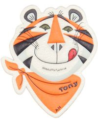 Anya Hindmarch Frosties Leather Sticker orange - Lyst