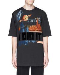3.1 Phillip Lim Jupiter Print Cotton T-Shirt black - Lyst