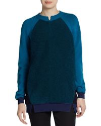 Stella McCartney Colorblock Wool Angora Sweater - Lyst